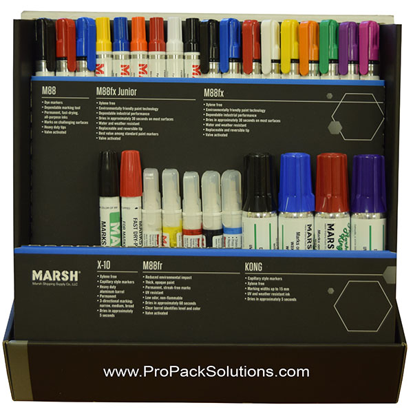 Marsh markers are available in several different types depending upon surface being marked on.