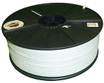 303B - 5-Spool Case of White Twist Tie Material - 4000 Ft. Per Roll