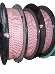 312CSA - 5-Spool Case of Candy Stripe Twist Tie Material